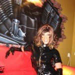 Black latex angel.. Maybe fallen one :)