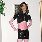 Me as Pink Latex Panther