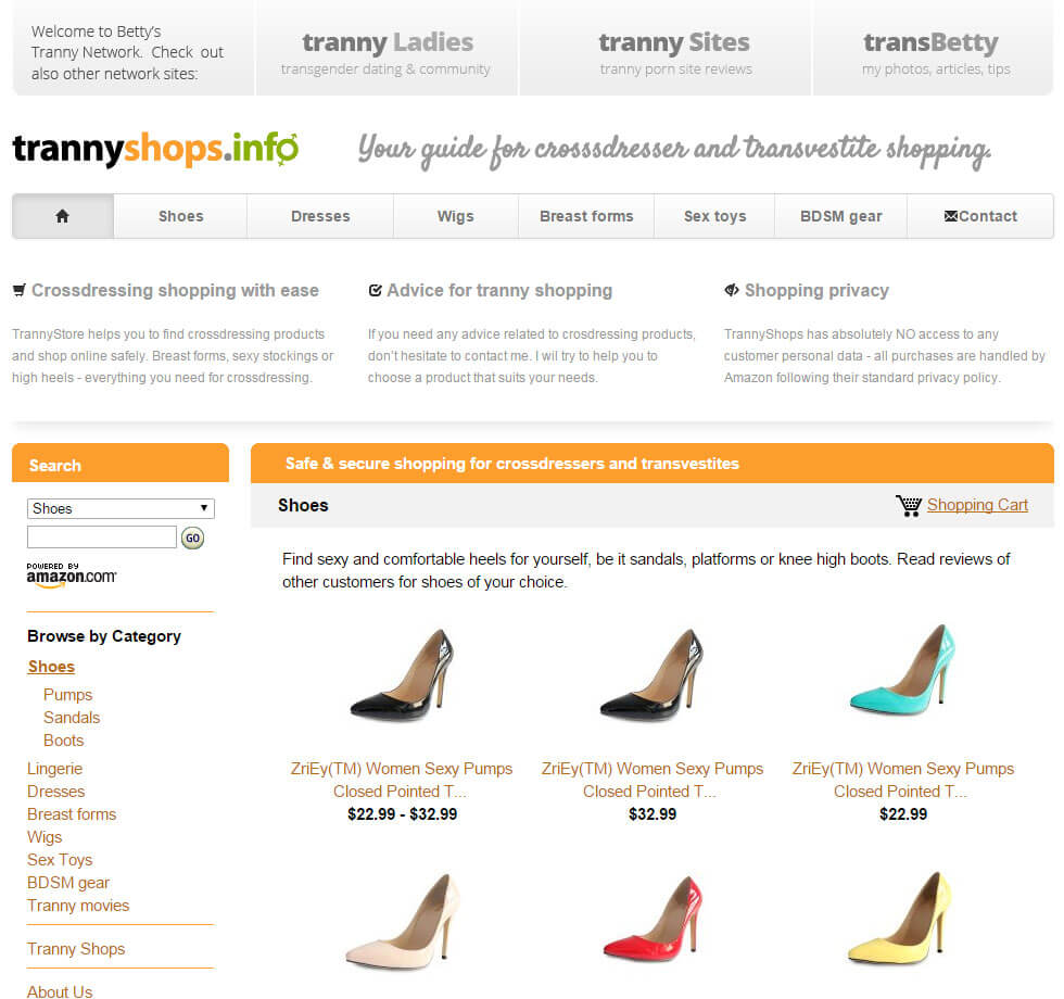 TrannyShops - shop screenshot